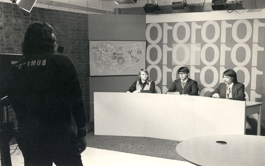 Students held a nightly weekday news show during the 1970s.