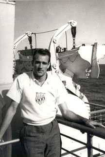 Neil, who competed against Jesse Owens during the Olympic Trials, traveled with the Olympic Team by cruise ship to Germany.