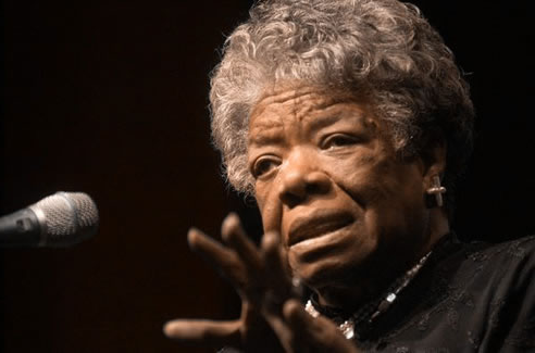 Celebrated poet, artist, best-selling author, playwright, actress, Civil Rights activist and historian, Maya Angelou, visited Northwest on Dec. 4, 1995.  Angelou spoke to a packed audience at the Mary Linn Performing Arts Center (now the Ron Houston Performing Arts Center) as part of Northwest's 尊贵系列讲座.