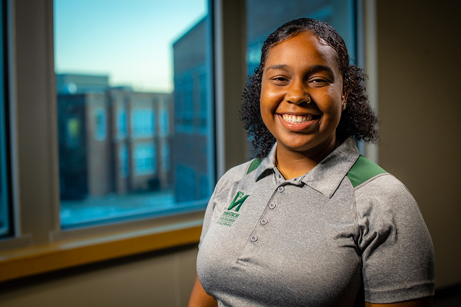 Campus involvement helps Freelon gain confidence, become career ready