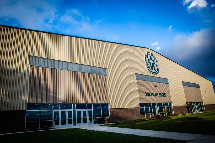 The Hughes Fieldhouse is reopen for community members to walk on the facility's indoor track. (Photo by Todd Weddle/Northwest Missouri State University)